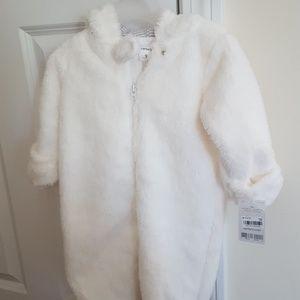 NWT Carter's White Snowsuit